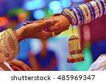 indian wedding ceremony  indian ...   Shutterstock . vector #485969347