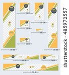 business standard 10 sizes... | Shutterstock .eps vector #485972557