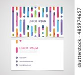 the business card with a bright ... | Shutterstock .eps vector #485974657