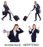 travel vacation concept with... | Shutterstock . vector #485975563