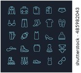 clothes icons  thin line set | Shutterstock .eps vector #485982043