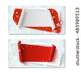 two  blank  christmas time ... | Shutterstock .eps vector #485989513