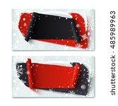 two  blank  black friday ... | Shutterstock .eps vector #485989963