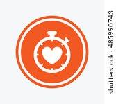heart timer sign icon.... | Shutterstock .eps vector #485990743