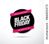 black friday sale label | Shutterstock .eps vector #486002473