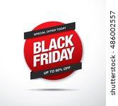 black friday sale label   Shutterstock .eps vector #486002557