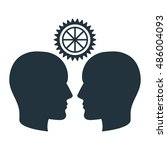 silhouette head idea think... | Shutterstock .eps vector #486004093