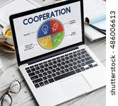 Small photo of Cooperation Alliance Company Unity Teamwork Concept