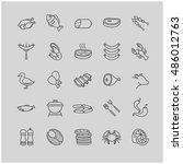 meat and fish icons for your... | Shutterstock .eps vector #486012763