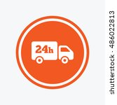 24 hours delivery service.... | Shutterstock .eps vector #486022813