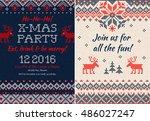 vector illustration knitted... | Shutterstock .eps vector #486027247