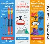 vector vertical banners skiing... | Shutterstock .eps vector #486035233