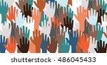 horizontal vector illustration... | Shutterstock .eps vector #486045433