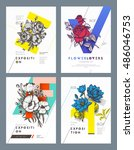 set of layout templates for... | Shutterstock .eps vector #486046753