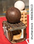 Small photo of Pallone col Bracciale (Ball with the Bracelet) - XVI century, the most popular sport athletic team in Italy until 1921. Treia, Macerata, Marche, Italy