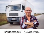portrait of a truck driver with