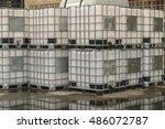 storage tanks  chemical storage ... | Shutterstock . vector #486072787