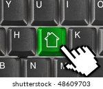 Computer Keyboard With Home Ke...