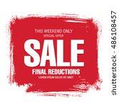 sale banner template design   Shutterstock .eps vector #486108457