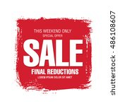 sale banner template design | Shutterstock .eps vector #486108607