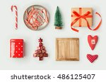 christmas decorations and... | Shutterstock . vector #486125407