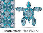 decorative turtle with ornament ...