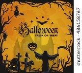 night terrors and nightmares... | Shutterstock .eps vector #486158767