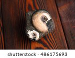 Small photo of fossilized ammonites on the wooden table