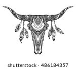 vector tribal animal skull...
