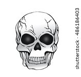 vector of black and white human ... | Shutterstock .eps vector #486186403