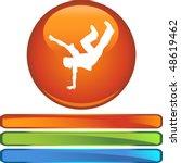 break dancer web button... | Shutterstock . vector #48619462
