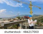 construction work  business plan   Shutterstock . vector #486217003