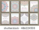 vector cards set. wedding... | Shutterstock .eps vector #486224503