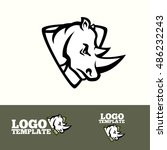 Rhino Logo Vector Concept For...