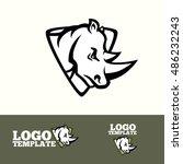 Rhino Logo Vector Concept For...