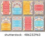 set of old ramadan flyer pages... | Shutterstock .eps vector #486232963