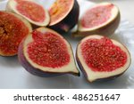fresh fruits background with... | Shutterstock . vector #486251647