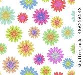 floral pattern seamless.... | Shutterstock .eps vector #486256543