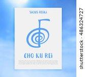 sacred geometry. reiki symbol.... | Shutterstock .eps vector #486324727