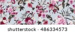 seamless floral pattern with... | Shutterstock . vector #486334573