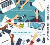 photography equipment with...   Shutterstock .eps vector #486391453