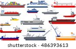 collection of ship cartoon for... | Shutterstock .eps vector #486393613