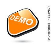 modern demo sign | Shutterstock .eps vector #48639874