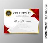 certificate template awards...   Shutterstock .eps vector #486400213