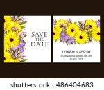 romantic invitation. wedding ...   Shutterstock .eps vector #486404683