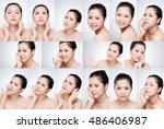 beauty   adorable asian woman... | Shutterstock . vector #486406987