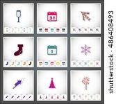 christmas. a set of flat...   Shutterstock .eps vector #486408493
