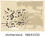 note grunge card | Shutterstock . vector #48641533