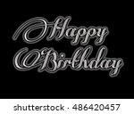 happy birthday greeting card... | Shutterstock . vector #486420457