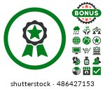 award icon with bonus images.... | Shutterstock .eps vector #486427153